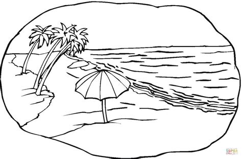 beach scene coloring page  printable coloring pages
