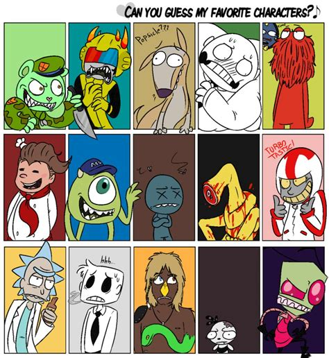 Favorite Character Meme - favorite character meme by rwforever on deviantart