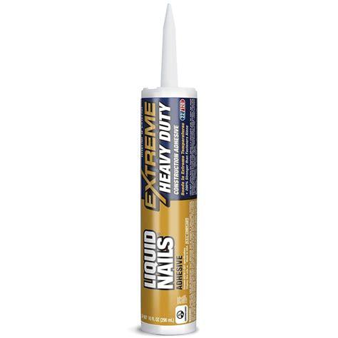 liquid nails liquid nails 10 oz extreme heavy duty adhesive ln 907 the home depot