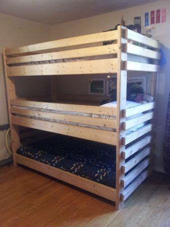simple wood bunk bed plans woodworking projects plans
