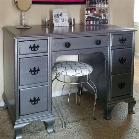 desk turned   vanity  neat dreams design