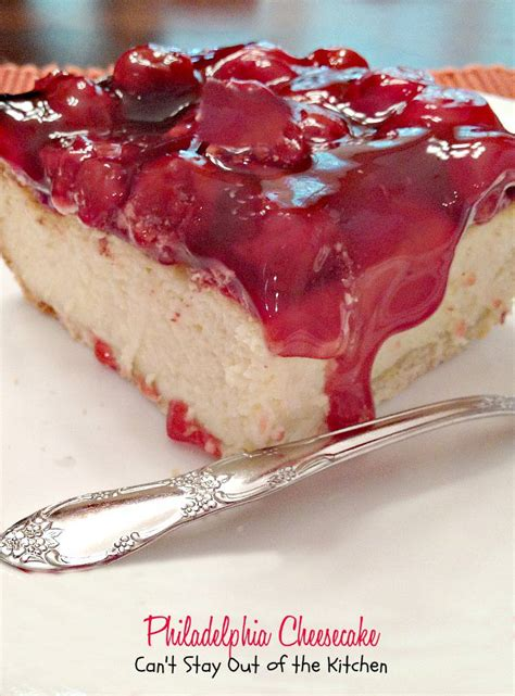 philadelphia cheesecake can t stay out of the kitchen
