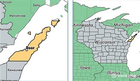 map of door county wi door county wisconsin map of door county wi where is