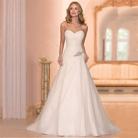 beaded cheap organza beach wedding dresses china ball gown