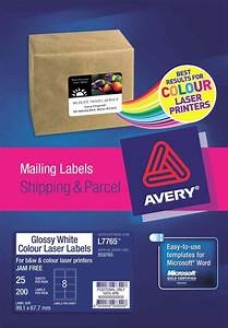 averyr glossy white photo quality labels l7765 25 avery With avery glossy white labels