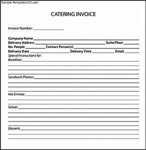 catering invoice pdf sample templates sample templates With catering invoice pdf