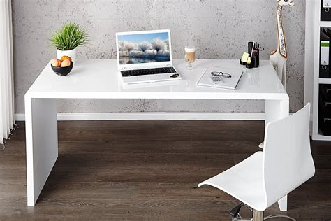 bureau high enzo white high gloss computer office desk furniturebox