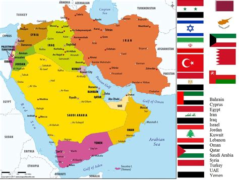 list   countries  middle east bridgatcom