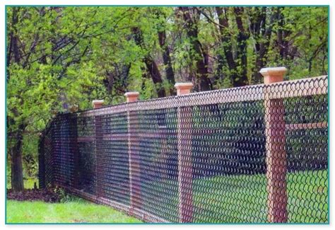 chain link fence design home improvement