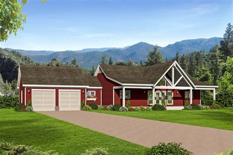 bed country ranch home plan  walkout basement vr architectural designs house plans
