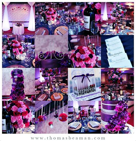 Purple Wedding Ideas Deep Purple And Pink Project