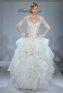 pnina tornai wedding gown with silk chiffon mermaid With wedding dress designer pnina
