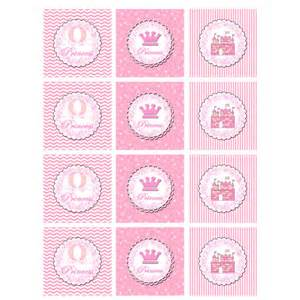 custom cupcake toppers princess cupcake topper or party sticker by huggablemedesigns
