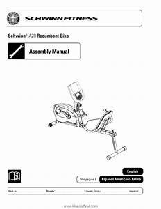 Schwinn 270 Recumbent Bike Assembly Instructions