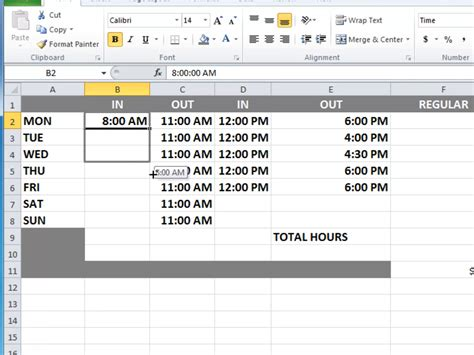 how to calculate time on excel spreadsheet 9 easy steps