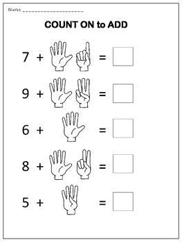 counting  addition worksheets addition worksheets