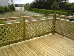 Balustrade En Bois : balustrade en bois pour terrasse terrasse bois et garde ~ Melissatoandfro.com Idées de Décoration
