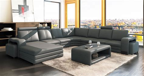 canape d angle 8 10 places deco in 1 canape d angle panoramique cuir gris 10