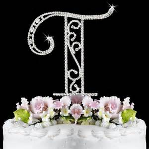 wedding guest book picture frame ct letter t wf monogram wedding cake toppers