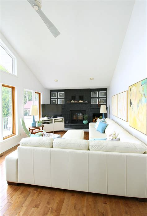 rearranging  living room   modern white leather