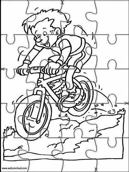 Jigsaw Coloring Puzzle Printable Pages Puzzles Cut