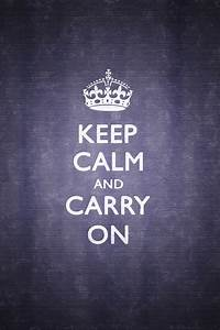 iPhone Wallpapers: Keep Calm and Carry On iPhone Wallpaper