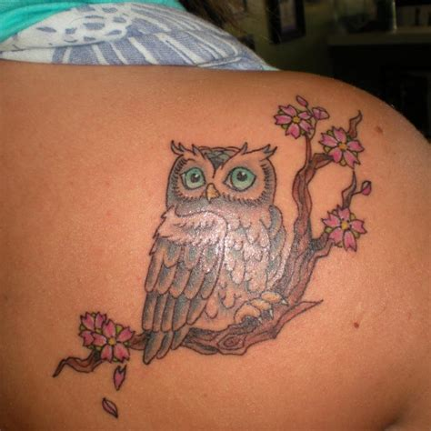 nice owl tattoo  owl leg tattoo  tattoochiefcom