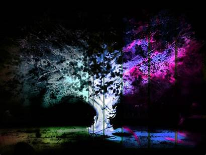 Funky Psychedelic Negative Glitch Trees Nature Field