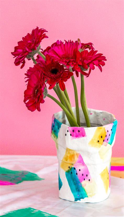 paper mache diy flower vase  subtle revelry
