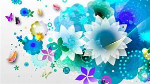turquoise flowers wallpaper
