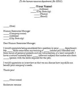 blank cover letter cover letter templates