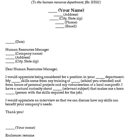 Fill In The Blank Cover Letter Free by New Business Letter Format Fill In The Blank