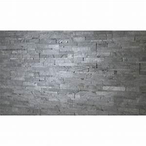 Plaque De Parement Leroy Merlin : plaquette de parement akita en pierre naturelle gris ~ Dailycaller-alerts.com Idées de Décoration