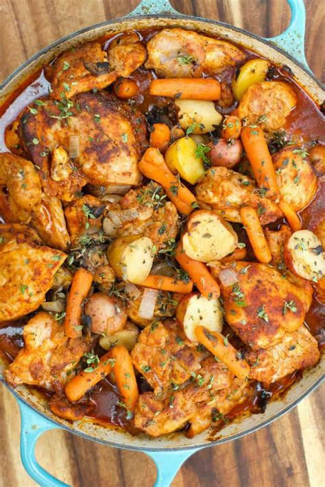 Onepot Paprika Chicken Thighs
