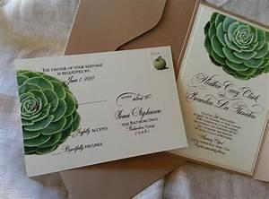 succulent wedding invitations gangcraftnet With wedding invitations with succulents