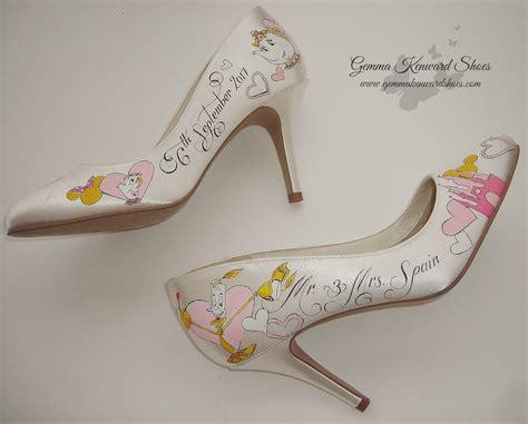 disney beauty   beast personalised wedding shoes