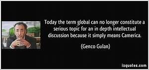 Today the term ... Serious Topic Quotes