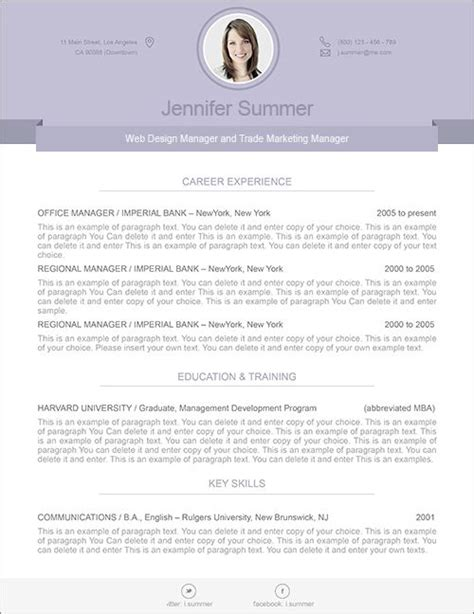 resume cover letter template mac pages