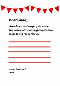 6 free santa letter templates from paperdirect With santa letter direct