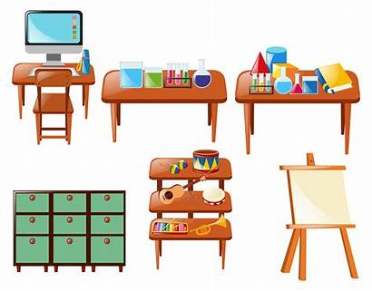 Objects Table Different Vector Clipart Chemistry Vecteezy