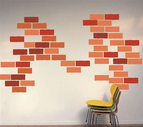 Brick Wall Decal  Construction Wall Decal Murals