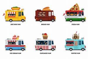 Set of Food Truck Illustrations ~ Illustrations on ...