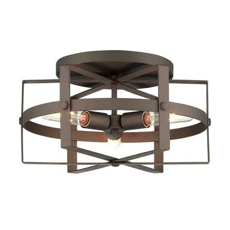 rustic flush mount ceiling lights varaluz reel 3 light rustic bronze flushmount 242s03rb
