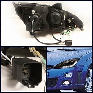 Ford Focus 00-04 Drl Led Projector Headlights