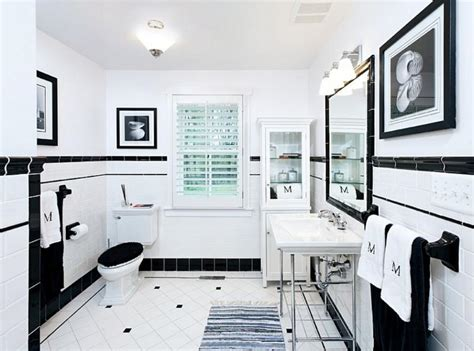 Contemporary Black And White Bathroom Ideas-rilane