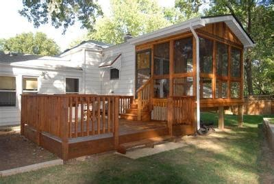 trailer sunrooms decoration deck ideas for a cer our cer project four