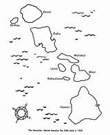 Coloring Hawaii Outline Map Island State Printable Preschool Hawaiian Volcanic Sheets Printables Designlooter Tattoo Outlines sketch template