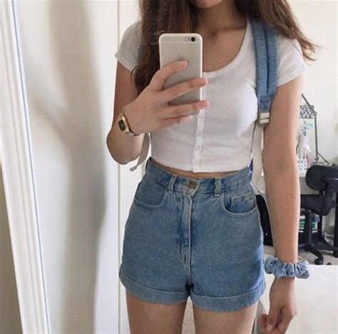 Pants tumblr aesthetic tumblr girl crop tops shorts tumblr blue jeans high waisted ...