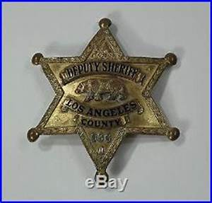 OLD OBSOLETE LOS ANGELES COUNTY SHERIFF BADGE NAMED | Los ...