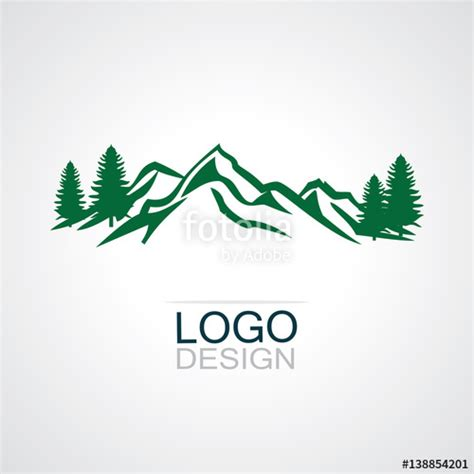 """""""mountain Green Forest Logo"""" Stock Image And Royaltyfree"""